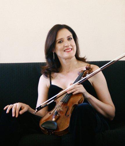 Zanta Hofmeyr & Violin, Black Dress